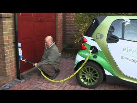 Electric Smart Car plug in demo