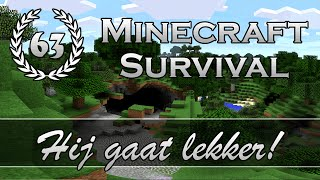 """Hij gaat lekker!"" - Minecraft Survival - Aflevering 63"