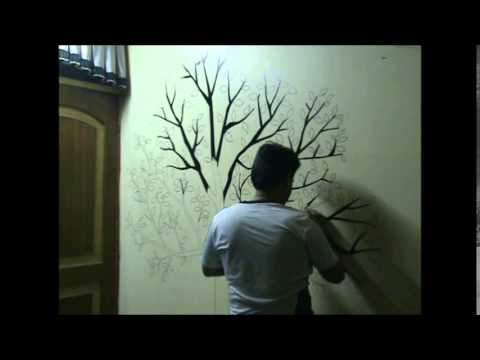 Awesome Speed Painting Wall Drawing Of A Tree