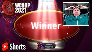 Spraggy WINNING $68K In A WCOOP Tournament ♠️ #Shorts