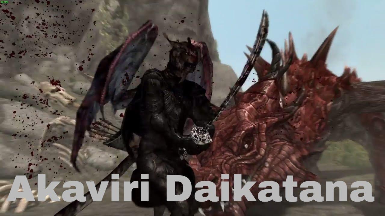 Akaviri Daikatana Skyrim Special Edition Mod Showcase By