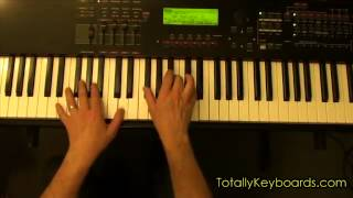 Somewhere Only We Know Keyboard Piano Lesson
