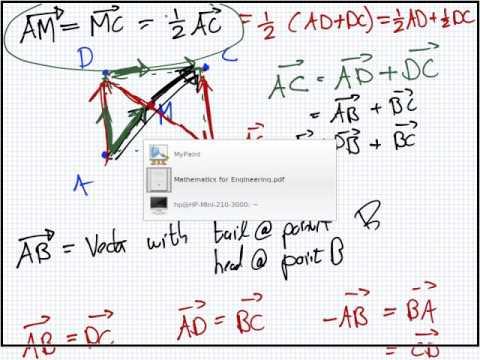 Mathematics for Engineering | Lesson | Vectors | Euclidean Vectors