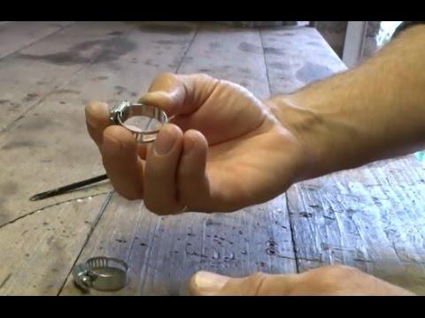 видео: Маленькая хитрость в работе со стальным хомутиком.