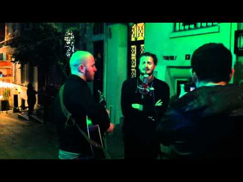 "Wild Beasts performing ""Bed of Nails"" in the street in Istanbul"