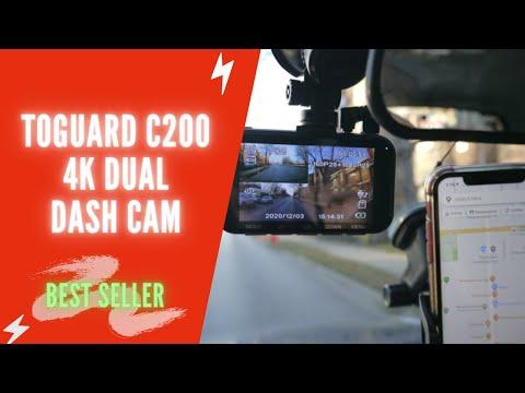 TOGUARD C200 4K Dual Dash Cam Review & Setup 2021 | TOGUARD Dash Cam Front and Rear Install & Test