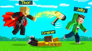 Playing As THOR In SPEEDRUNNERS vs. HUNTERS! (Minecraft)
