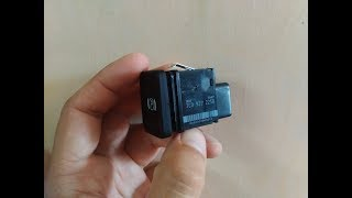 Ремонт кнопки ручного гальма (ручника) VW Passat B6, Passat CC