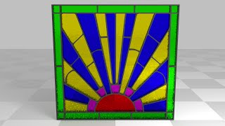 Blender Beginners Tutorial: How To Create A 3d Textured Stained Glass Window From An Image Using Gim