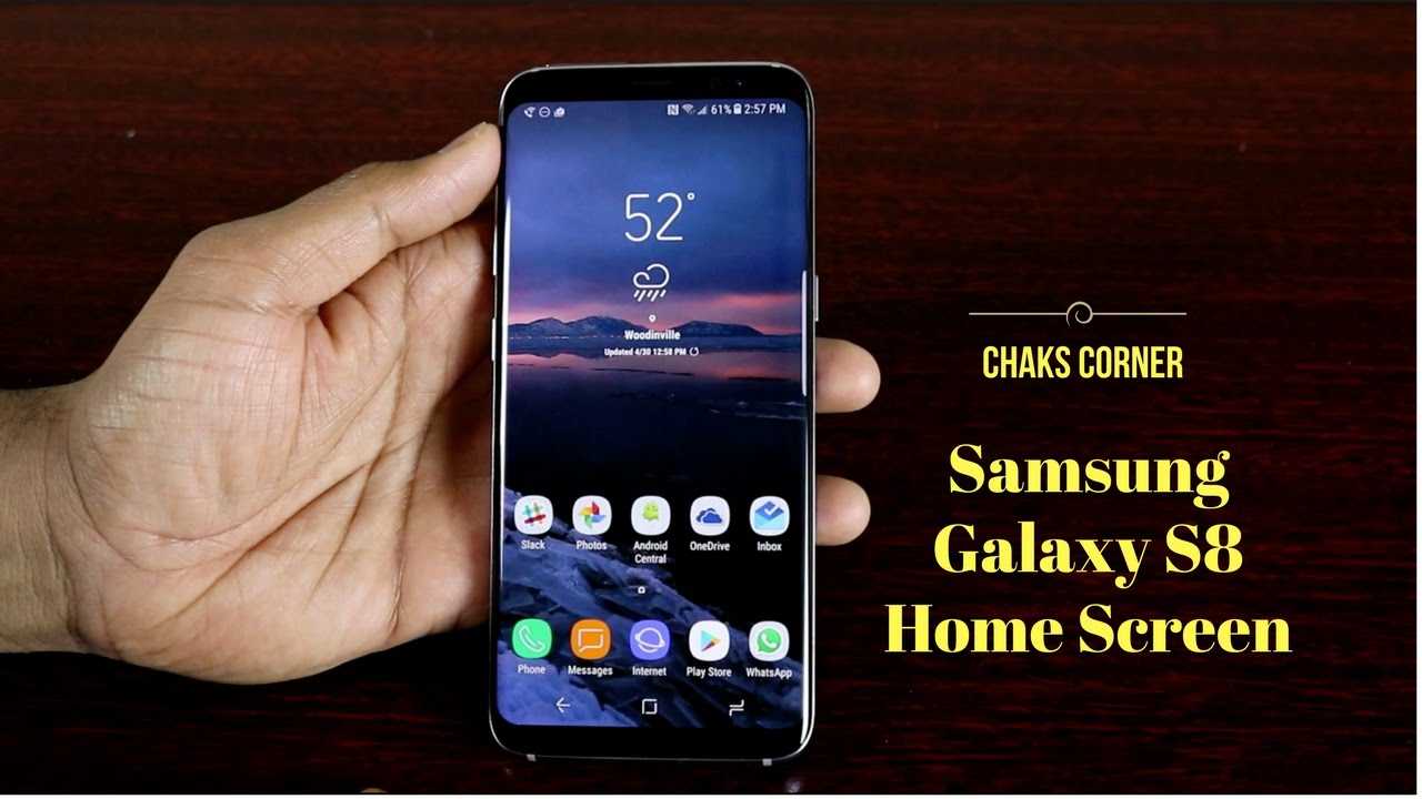 Samsung Screen Samsung Galaxy S8 Home Screen Customization