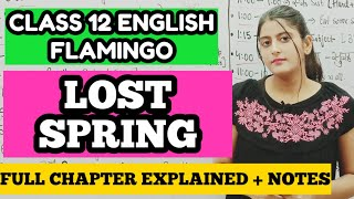 LOST SPRING CLASS 12 IN HINDI