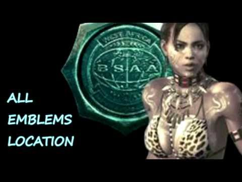 Resident Evil 5 Remastered HD PS4: All 30 Hidden BSAA Emblem Locations /30 Emblemes du BSAA