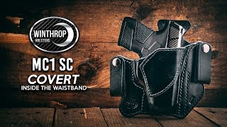 Mossberg MC1 SC IWB Covert Black Leather Holster By: WinthropHolsters.com