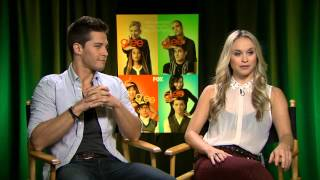 Glee - Interview with Dean Geyer and Becca Tobin YouTube Videos