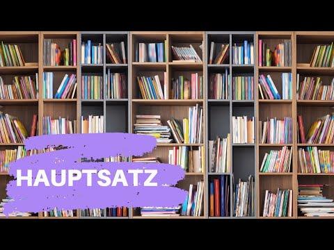 Hauptsatz. Главное предложение. Порядок слов в главном предложении