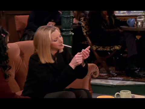 Lisa Kudrow smoking a cigarette (or weed)