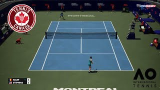 🏸 SIMONA HALEP VS SLOANE STEPHENS | MONTREAL CANADA | AO INTERNATIONAL TENNIS 2018 | GAMEPLAY PC