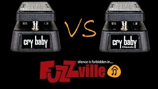 Dunlop Original Cry Baby vs Classic Cry Baby