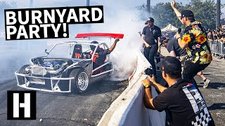 Our Wildest BurnYard Bash Yet! Popping Tires, Brad Almost Wrecks, and We Like to Party