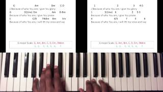 Because of Who You Are - Martha Munizzi (Piano Tutorial)