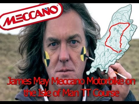 James May Meccano Bike on the Isle of Man TT Course