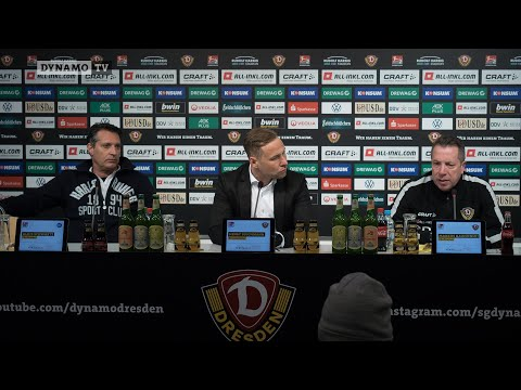 19. Spieltag | SGD - KSC | Pressekonferenz nach dem Spiel