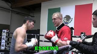 Jake Paul & Ryan Garcia Land Body Shots On Each Other  EsNews Boxing