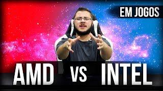 Qual é melhor AMD ou Intel em Jogos - I7-8700K vs R7 2700X, R7 2700, I5-8600K vs R5 2600X, R5 2600
