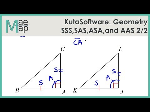 Kutasoftware Geometry Sss Sas Asa And Aas Congruence Part 2 Youtube