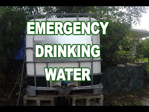The safe way to store EMERGENCY WATER