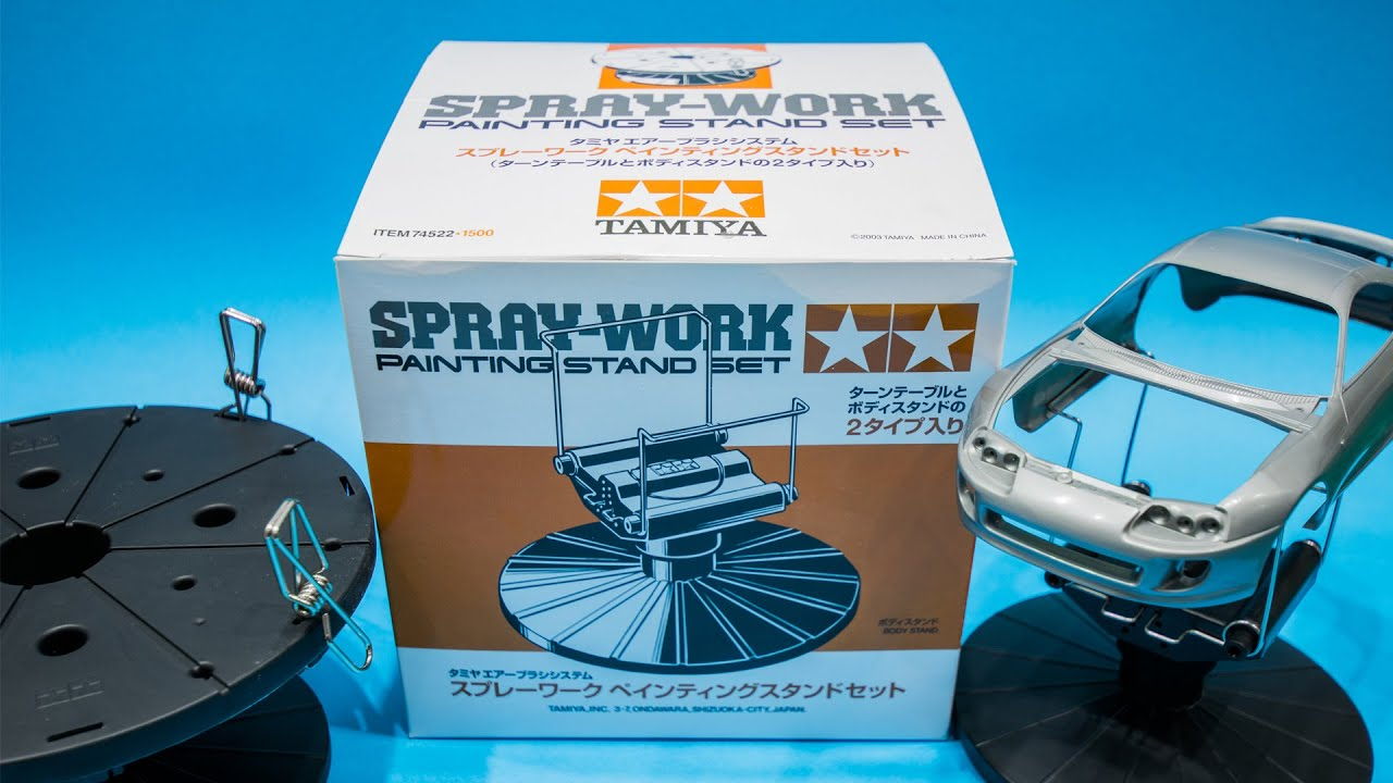 Tamiya spray work painting stand review youtube for How does spray paint work