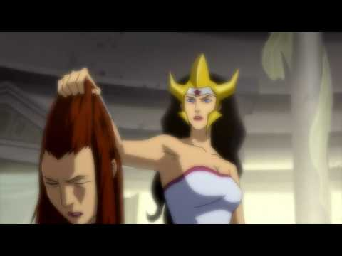 Wonder Woman murdering Aquaman's wife Mera!