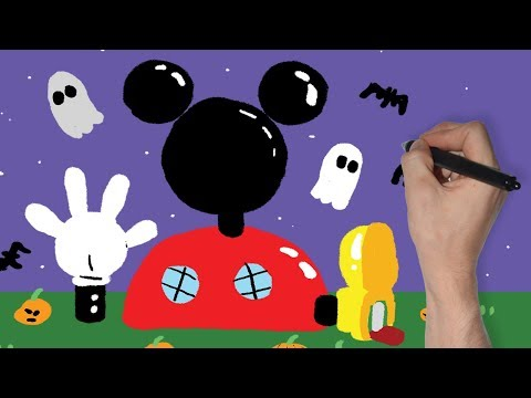MICKEY MOUSE CLUBHOUSE SPOOKY DRAWING   DISNEY JUNIOR