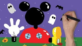 MICKEY MOUSE CLUBHOUSE SPOOKY DRAWING | DISNEY JUNIOR