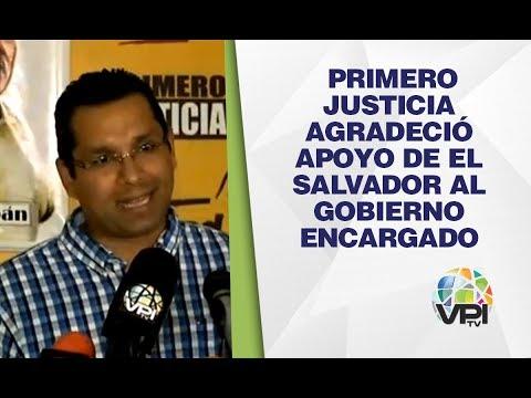 Caracas - Primero Justicia Agradeció Apoyo De El Salvador Al Gobierno Encargado - VPItv