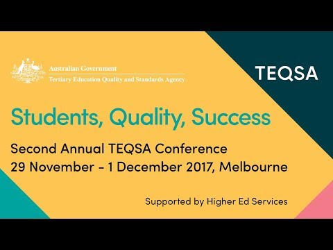 #teqsa2017 Nicholas Saunders's Keynote Address: Students, Quality, Success: Sector Overview 2017