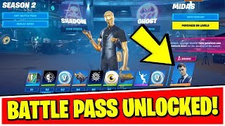 Fortnite Chapter 2 - Season 2 BATTLE PASS - HOW TO UNLOCK & FULLY UPGRADED (ALL 100 TIERS REWARDS)
