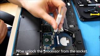 replacing the heatsink and cpu in a dell vostro 1520