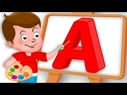Drawing Alphabet A Letter coloring painting for kids Kids Drawing TV