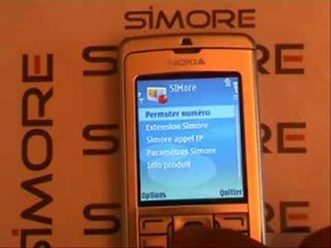 Nokia E60 - Dual SIM Card adapter Simore for Nokia E60