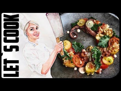 ✿ LET`S COOK ✿ Осьминог с картошкой-фри - как правильно готовить осьминога?  ♥