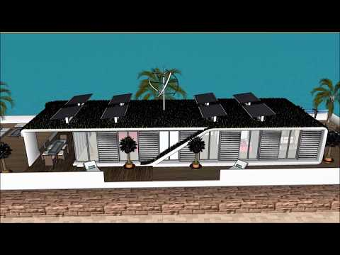 Renewable houseboat solution in Shanghai China a floating luxury villa with solar panel and private