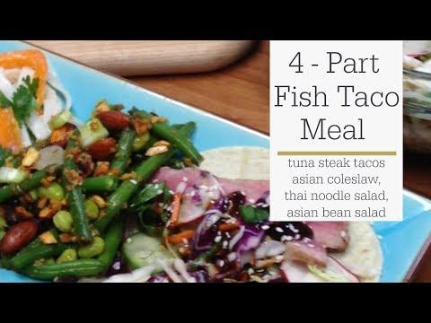 Fish Taco Meal - Tuna Steak Taco Recipe and Asian Sides - RadaCutlery.com