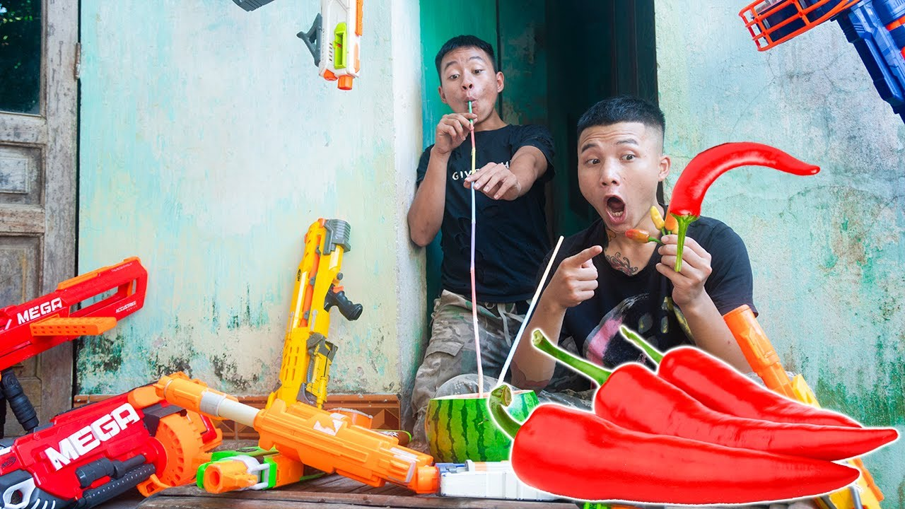 Battle Nerf War: Competition Nerf Guns CHILI PEPPERS BATTLE