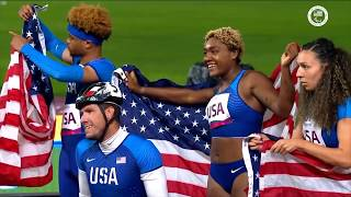 Highlight - Team USA Wins Gold In The Universal 4x100m Relay  | Parapan American Games Lima 2019