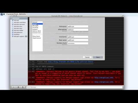Using IRC (Internet Relay Chat)