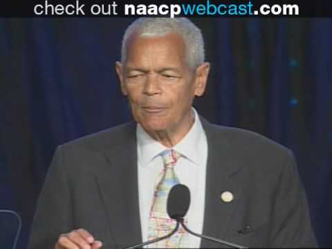 Julian Bond addresses the 2009 NAACP 100th Annual Convention