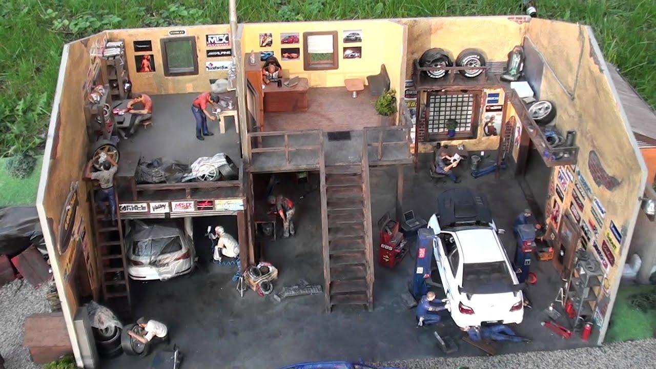 Diorama Garage Youtube