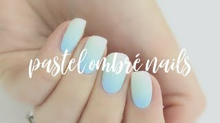 Pastel Blue Ombré Nails | The Nail Trail