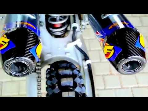 Honda CRF250R with FMF dual exhaust system